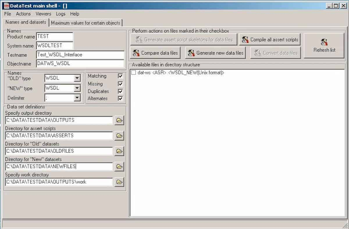 WSDLTest User Interface