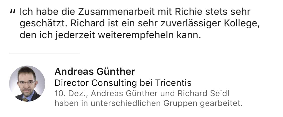 Reference Andreas Guenther
