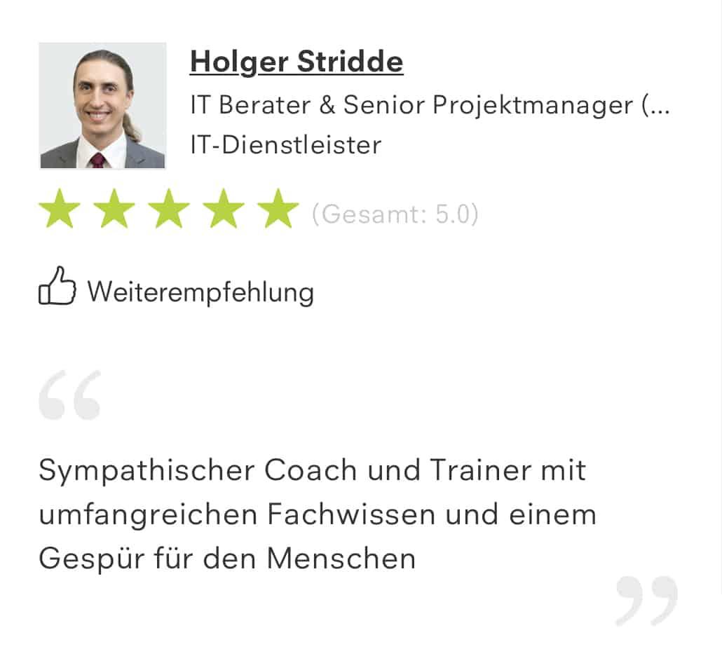 Reference Holger Stridde